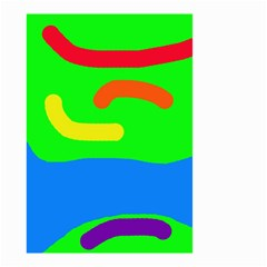 Rainbow Abstraction Small Garden Flag (two Sides) by Valentinaart
