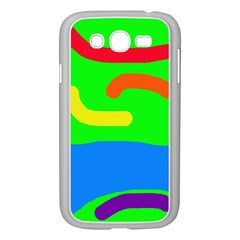 Rainbow Abstraction Samsung Galaxy Grand Duos I9082 Case (white) by Valentinaart