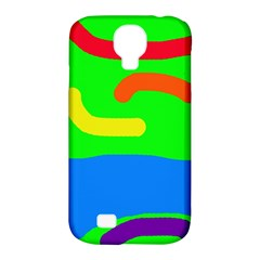 Rainbow Abstraction Samsung Galaxy S4 Classic Hardshell Case (pc+silicone) by Valentinaart