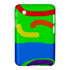 Rainbow Abstraction Samsung Galaxy Tab 2 (7 ) P3100 Hardshell Case  by Valentinaart