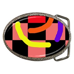 Multicolor Abstraction Belt Buckles by Valentinaart