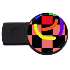 Multicolor Abstraction Usb Flash Drive Round (4 Gb)  by Valentinaart