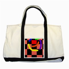 Multicolor Abstraction Two Tone Tote Bag
