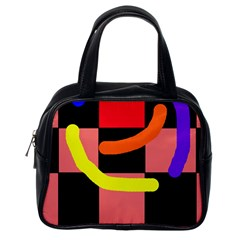 Multicolor Abstraction Classic Handbags (one Side)