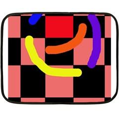 Multicolor Abstraction Fleece Blanket (mini) by Valentinaart