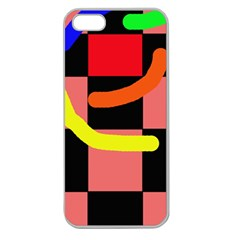 Multicolor Abstraction Apple Seamless Iphone 5 Case (clear) by Valentinaart