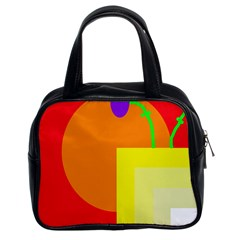 Colorful Abstraction Classic Handbags (2 Sides) by Valentinaart