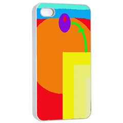 Colorful Abstraction Apple Iphone 4/4s Seamless Case (white) by Valentinaart