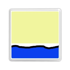 Yellow And Blue Simple Design Memory Card Reader (square)  by Valentinaart