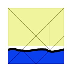 Yellow And Blue Simple Design Acrylic Tangram Puzzle (6  X 6 ) by Valentinaart