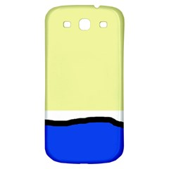 Yellow And Blue Simple Design Samsung Galaxy S3 S Iii Classic Hardshell Back Case by Valentinaart