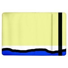 Yellow And Blue Simple Design Ipad Air Flip by Valentinaart