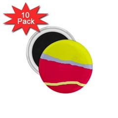Red And Yellow Design 1 75  Magnets (10 Pack)  by Valentinaart