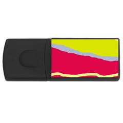 Red And Yellow Design Usb Flash Drive Rectangular (4 Gb)  by Valentinaart