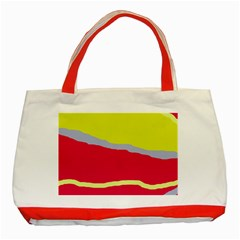 Red And Yellow Design Classic Tote Bag (red) by Valentinaart