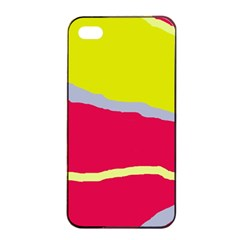 Red And Yellow Design Apple Iphone 4/4s Seamless Case (black) by Valentinaart