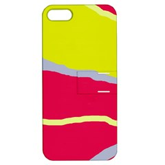 Red And Yellow Design Apple Iphone 5 Hardshell Case With Stand by Valentinaart