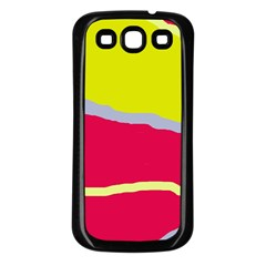 Red And Yellow Design Samsung Galaxy S3 Back Case (black) by Valentinaart