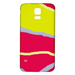 Red and yellow design Samsung Galaxy S5 Back Case (White) by Valentinaart