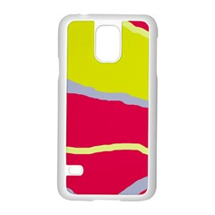 Red And Yellow Design Samsung Galaxy S5 Case (white) by Valentinaart