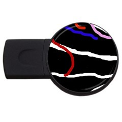 Decorative Lines Usb Flash Drive Round (2 Gb)  by Valentinaart