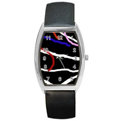 Decorative Lines Barrel Style Metal Watch by Valentinaart