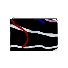 Decorative Lines Cosmetic Bag (medium)  by Valentinaart