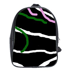 Decorative Lines School Bags (xl)  by Valentinaart