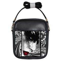 Lips Girl s Sling Bag by DryInk