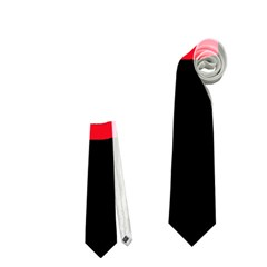 Red, black and white design Neckties (Two Side)  by Valentinaart