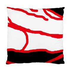 Red, black and white design Standard Cushion Case (Two Sides)