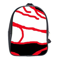 Red, black and white design School Bags(Large)  by Valentinaart