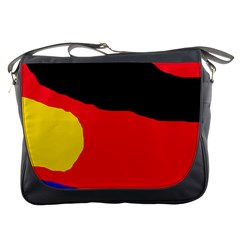 Colorful Abstraction Messenger Bags by Valentinaart