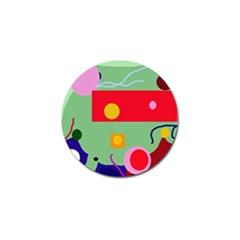 Optimistic Abstraction Golf Ball Marker (4 Pack) by Valentinaart
