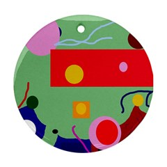 Optimistic Abstraction Round Ornament (two Sides)  by Valentinaart