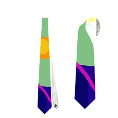 Optimistic Abstraction Neckties (one Side)  by Valentinaart