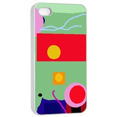 Optimistic Abstraction Apple Iphone 4/4s Seamless Case (white) by Valentinaart