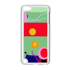 Optimistic Abstraction Apple Ipod Touch 5 Case (white) by Valentinaart