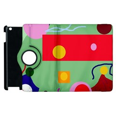 Optimistic Abstraction Apple Ipad 3/4 Flip 360 Case by Valentinaart