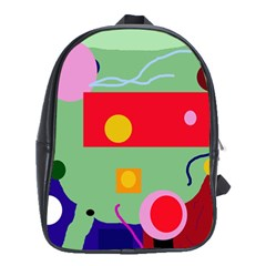 Optimistic Abstraction School Bags (xl)  by Valentinaart