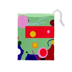 Optimistic Abstraction Drawstring Pouches (medium)  by Valentinaart