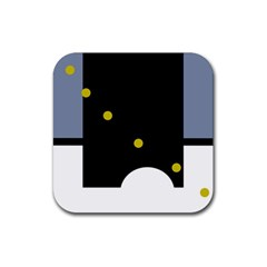 Abstract design Rubber Coaster (Square)  by Valentinaart