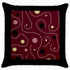 Elegant Design Throw Pillow Case (black) by Valentinaart