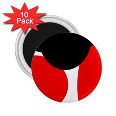 Red, Black And White 2 25  Magnets (10 Pack)  by Valentinaart