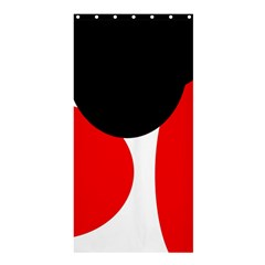 Red, Black And White Shower Curtain 36  X 72  (stall)  by Valentinaart