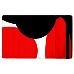 Red, Black And White Apple Ipad 2 Flip Case by Valentinaart