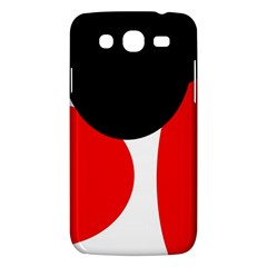Red, Black And White Samsung Galaxy Mega 5 8 I9152 Hardshell Case  by Valentinaart