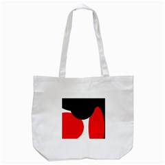 Red, Black And White Tote Bag (white) by Valentinaart