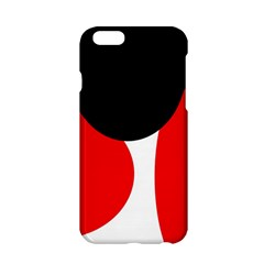 Red, Black And White Apple Iphone 6/6s Hardshell Case by Valentinaart