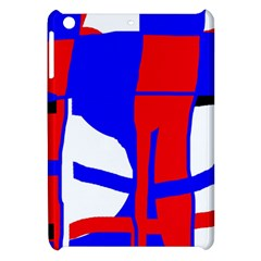 Blue, Red, White Design  Apple Ipad Mini Hardshell Case by Valentinaart
